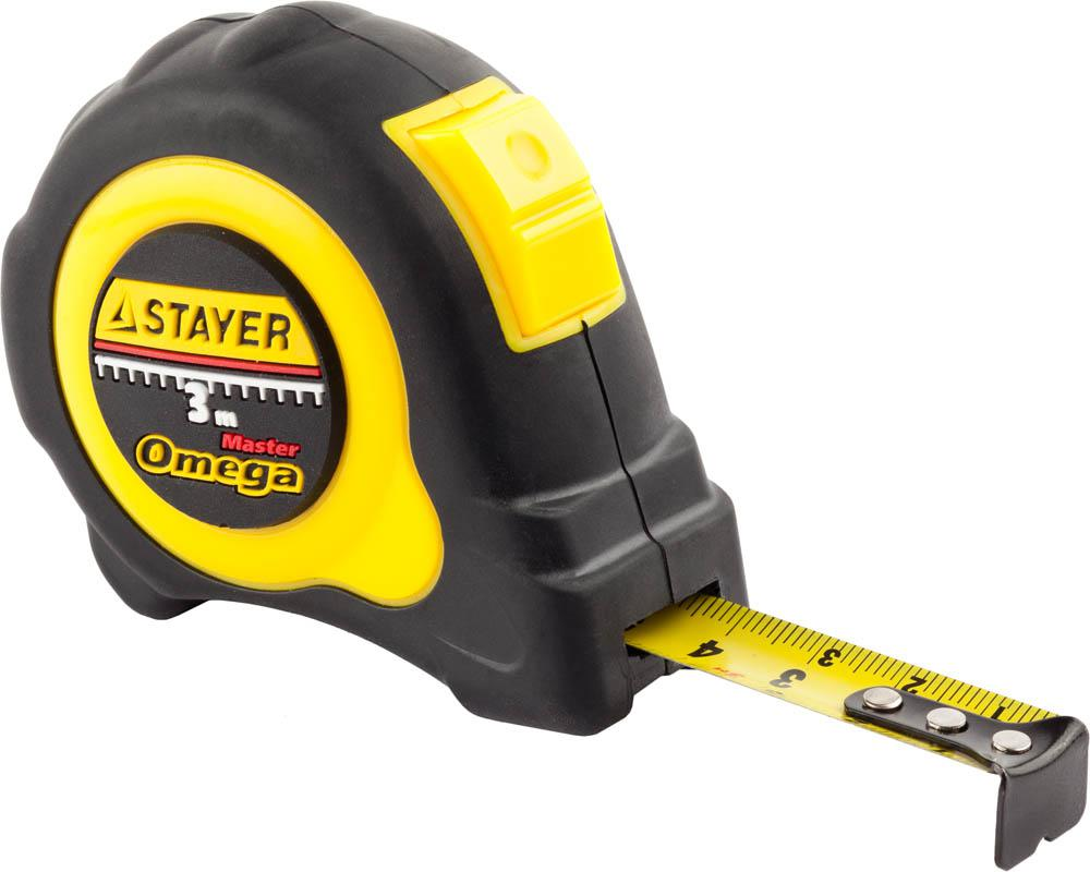 Рулетка Stayer 3402-3_z01 master omega набор ключей комбинированных stayer master 27085 h6
