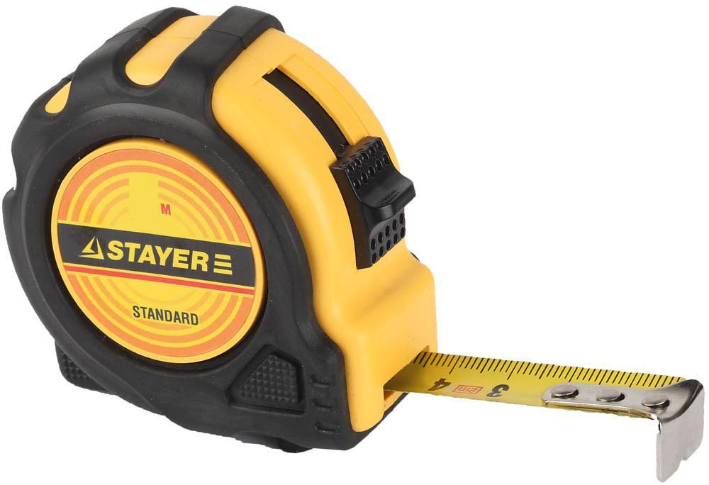 Рулетка Stayer 34025-03 standard toptape рулетка брелок stayer mini 1мх6мм 34140 1 z01