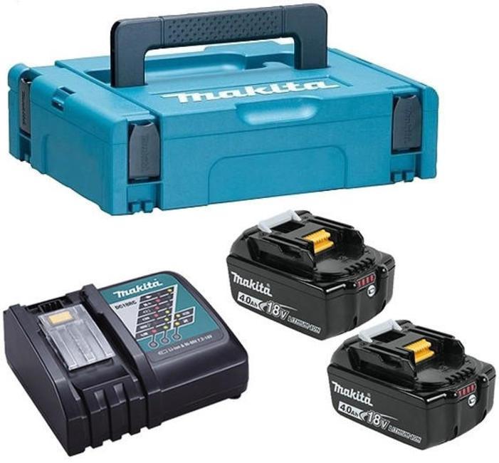 Аккумулятор Makita 198310-8 комплект makita аккумулятор bl1840b li ion 18v 4ah слайдер х2шт зу dc18rc кейс macpac 198310 8