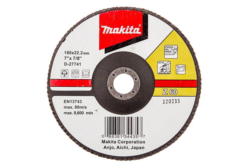 Круг Лепестковый Торцевой (КЛТ) Makita D-27741 круг лепестковый торцевой клт makita d 28117