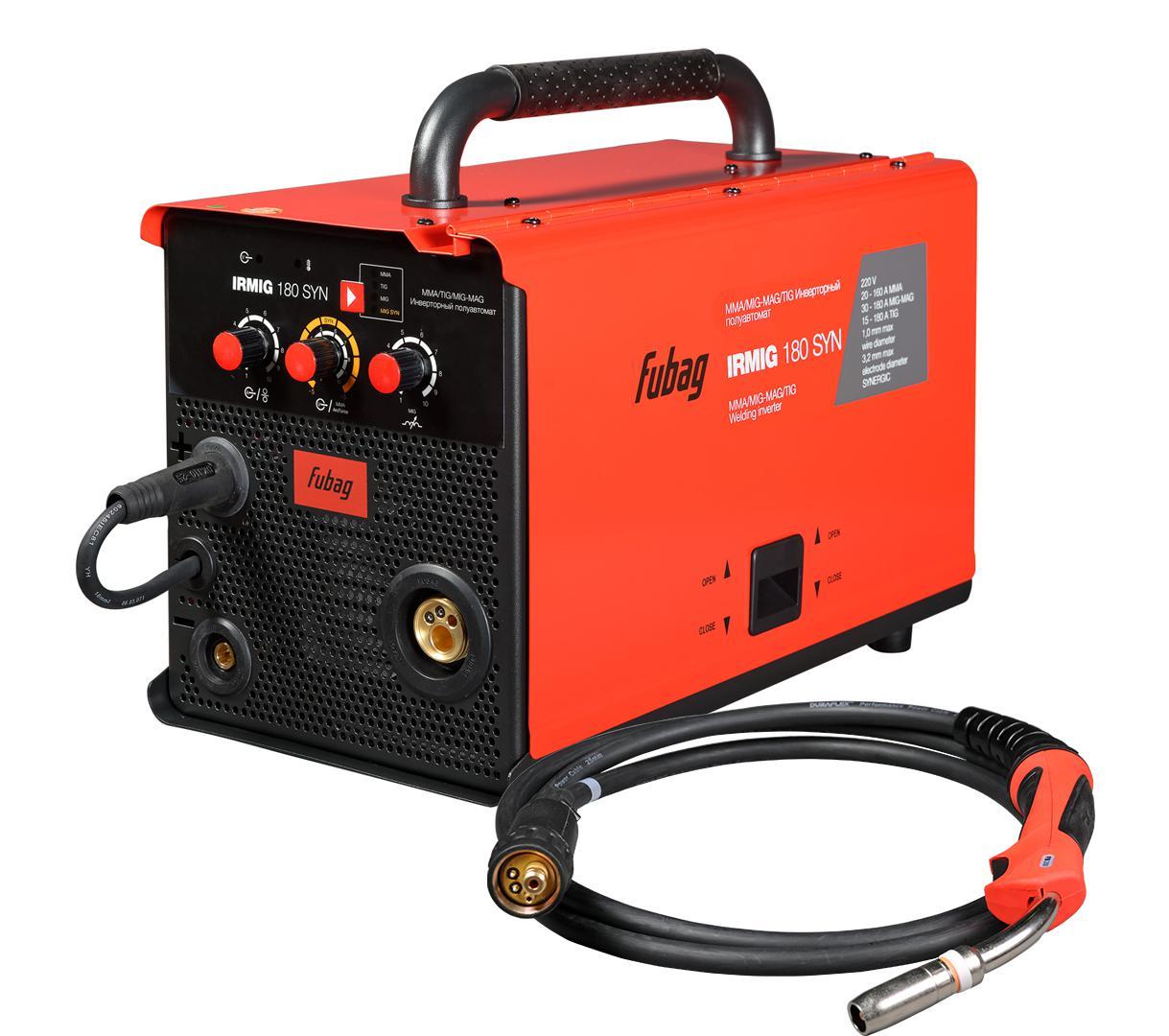 Сварочный полуавтомат Fubag Irmig 180 syn (38642) + горелка fb 250 3 м (38443) инвертор+горелка сварочный полуавтомат fubag irmig 160 38607 горелка fb 150 3 м инвертор