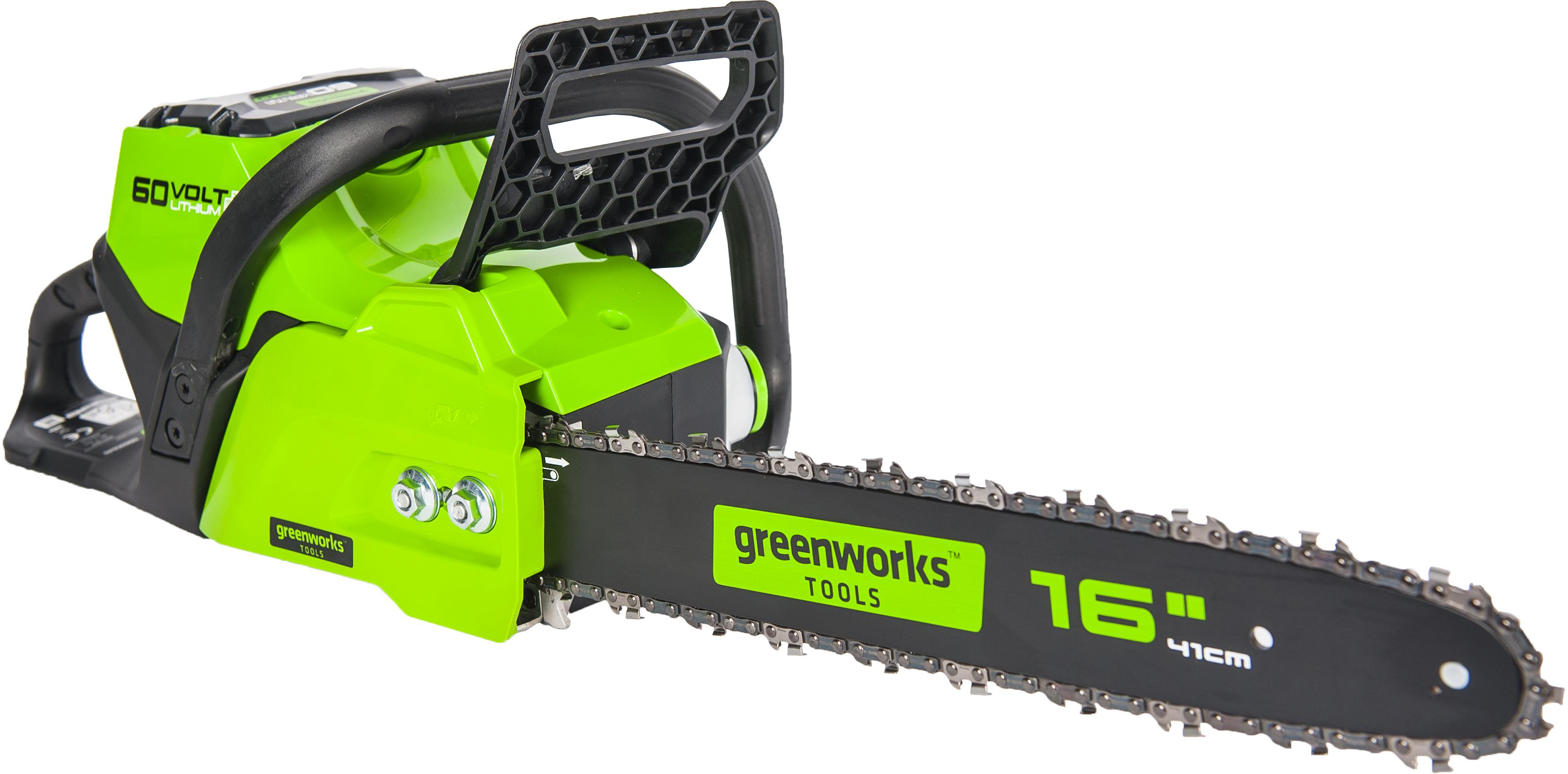 Пила цепная аккумуляторная Greenworks Gd60cs40k2 (2001807ua) 1акк 60В 2Ач + ЗУ пила цепная аккумуляторная greenworks gd60cs40 2001807 без аккум и зу