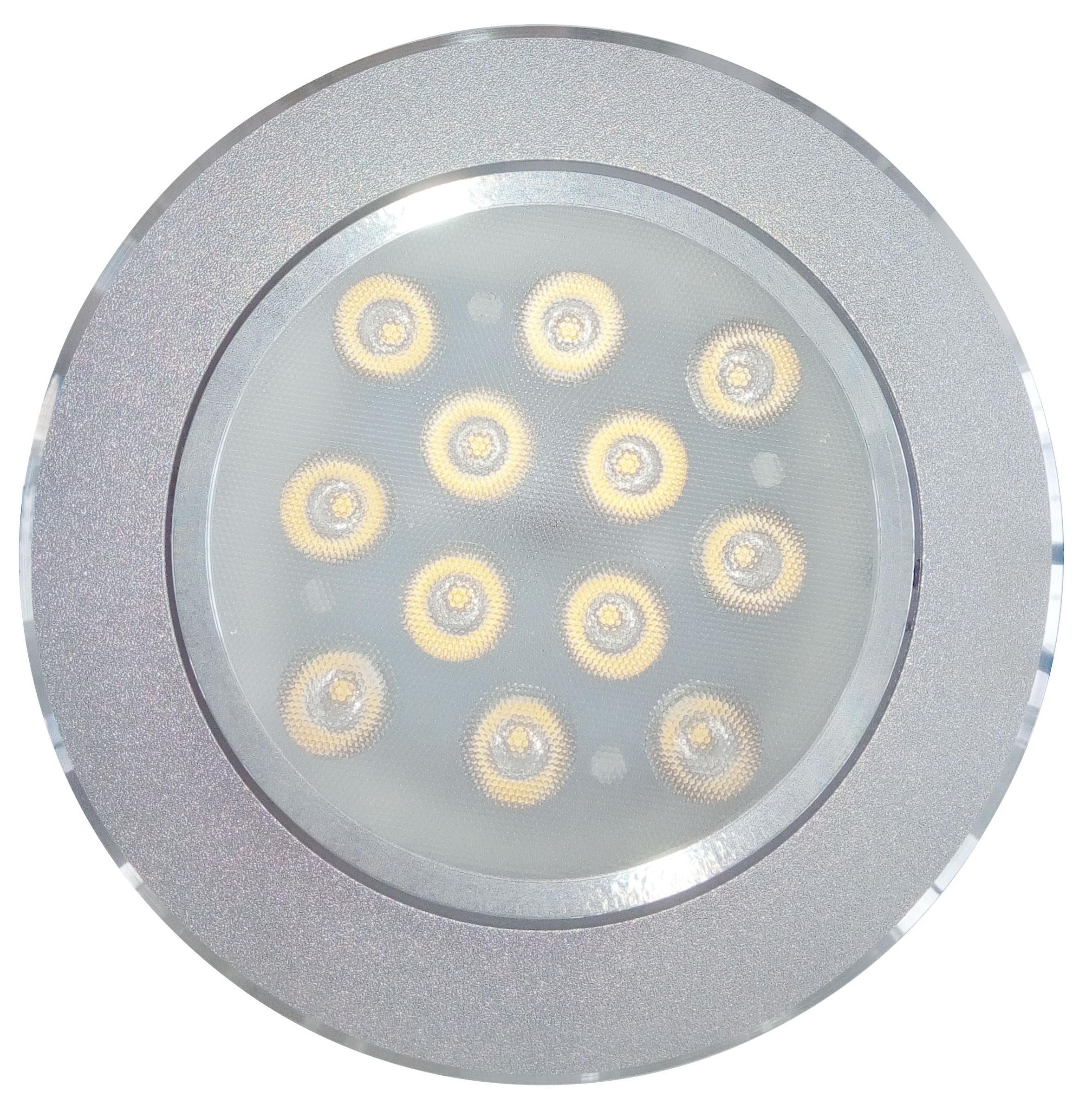 Светильник De fran Dc055 s smd led с пра и led 1053лм / 4000к серебристый светильник светодиодный de fran al 711 у smd 20вт 220b ip40 d400 h120