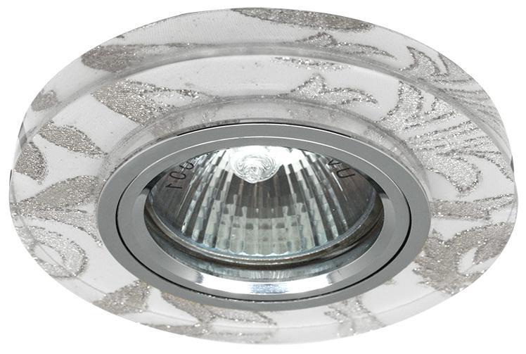 Светильник De fran Ft 897 под светодиодную лампу и с торцевой подсветкой хром+белый узор 3000к светильник de fran ft 861 ch
