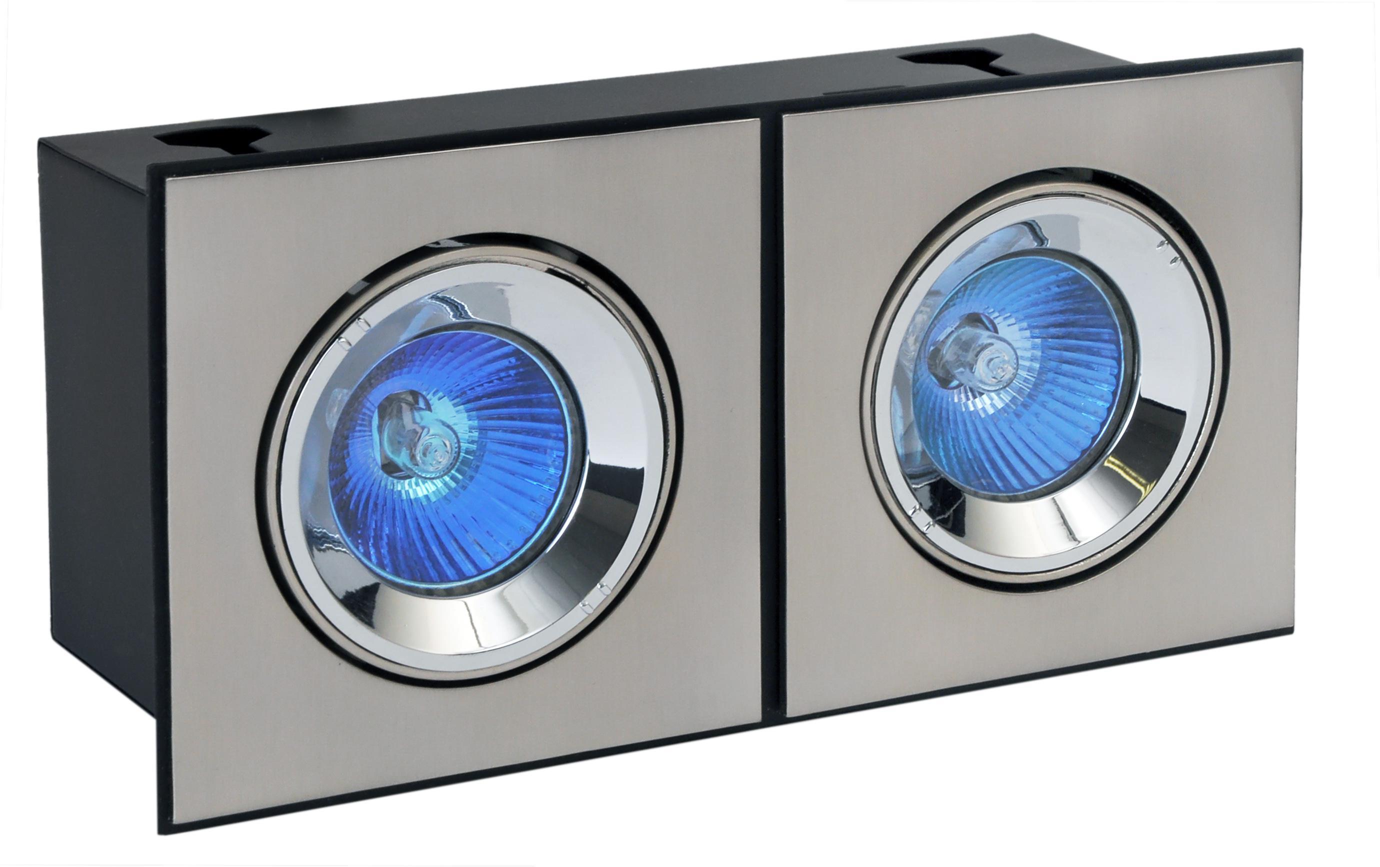 Корпус светильника De fran Dar m41x2 карданный два модуля с трансформаторами и лампами сатин-никель original projector lamp vlt xd400lp 915d035o10 for mitsubishi lvp xd460 xd460u dx540 dx545 dx548 es100u es10u