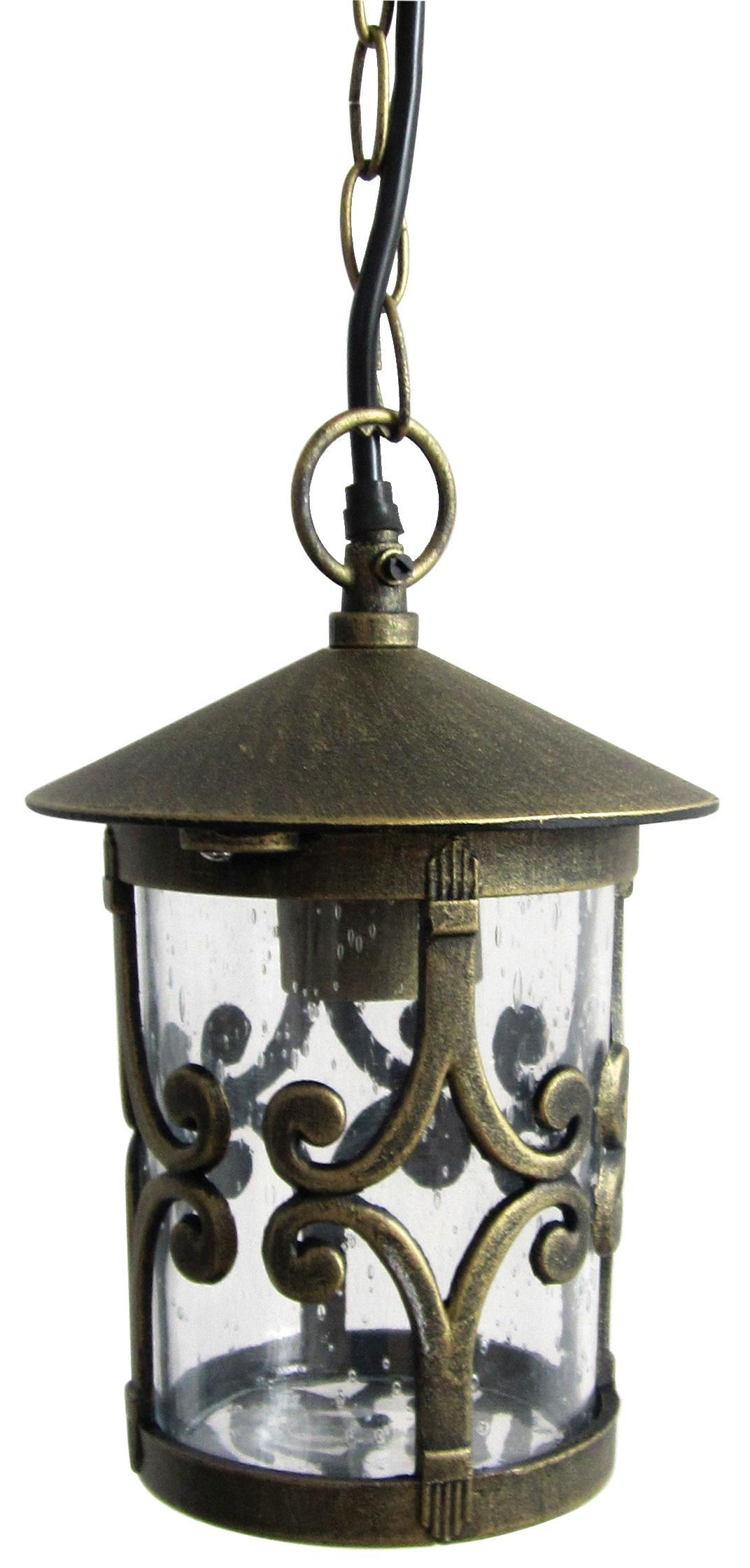 Светильник De fran El-382hg, уличный, на цепи алюминий черненное золото