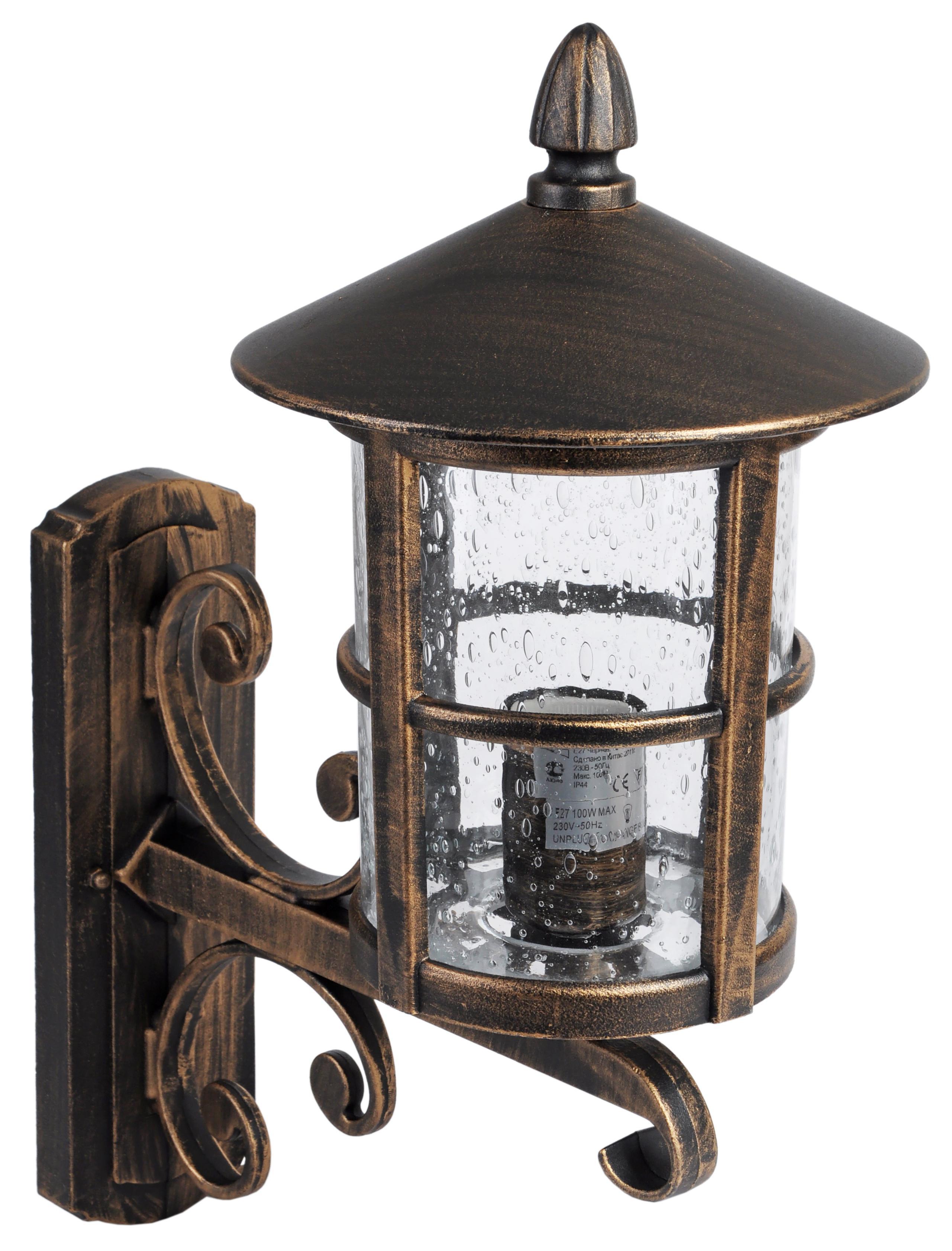 Светильник De fran El-448up, уличный, нержавеющая сталь черненное золото