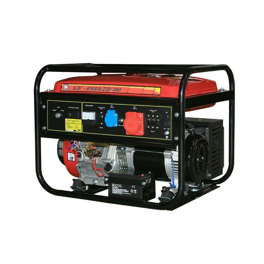 Бензиновый генератор КАЛИБР БЭГ-6500А/220/380 генератор калибр бэг 5500а