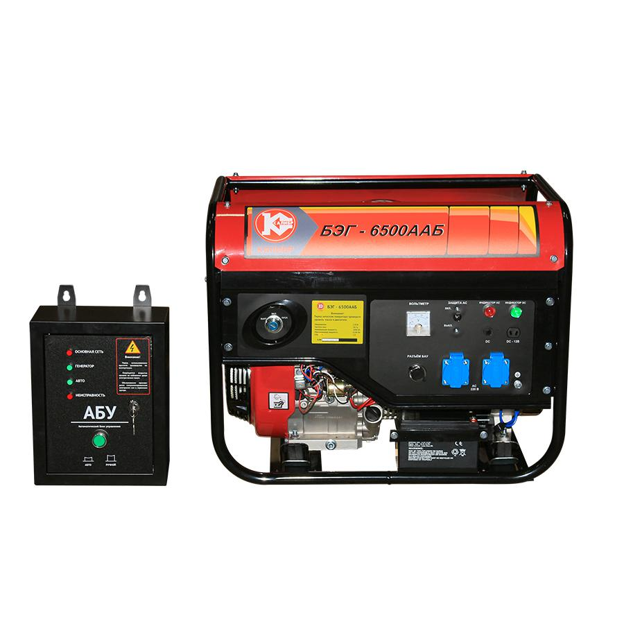 Бензиновый генератор КАЛИБР БЭГ-6500ААБ генератор калибр бэг 5500а