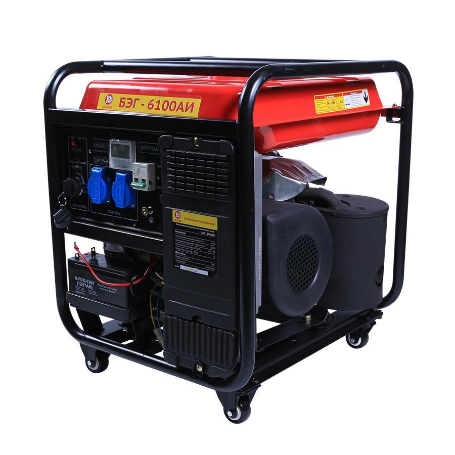 Бензиновый генератор КАЛИБР БЭГ- 6100АИ