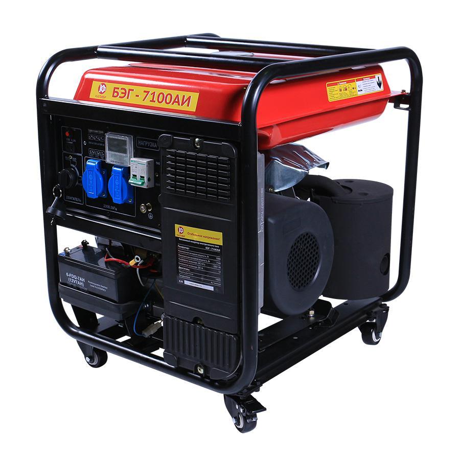 Бензиновый генератор КАЛИБР БЭГ- 7100АИ бензогенератор инверторный калибр бэг 7100аи
