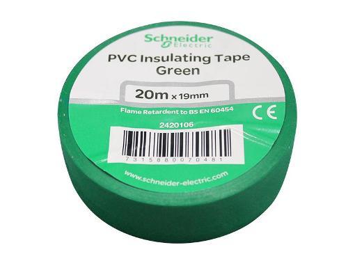 Зеленая изолента ПВХ SCHNEIDER ELECTRIC 19мм х 20м (469212)