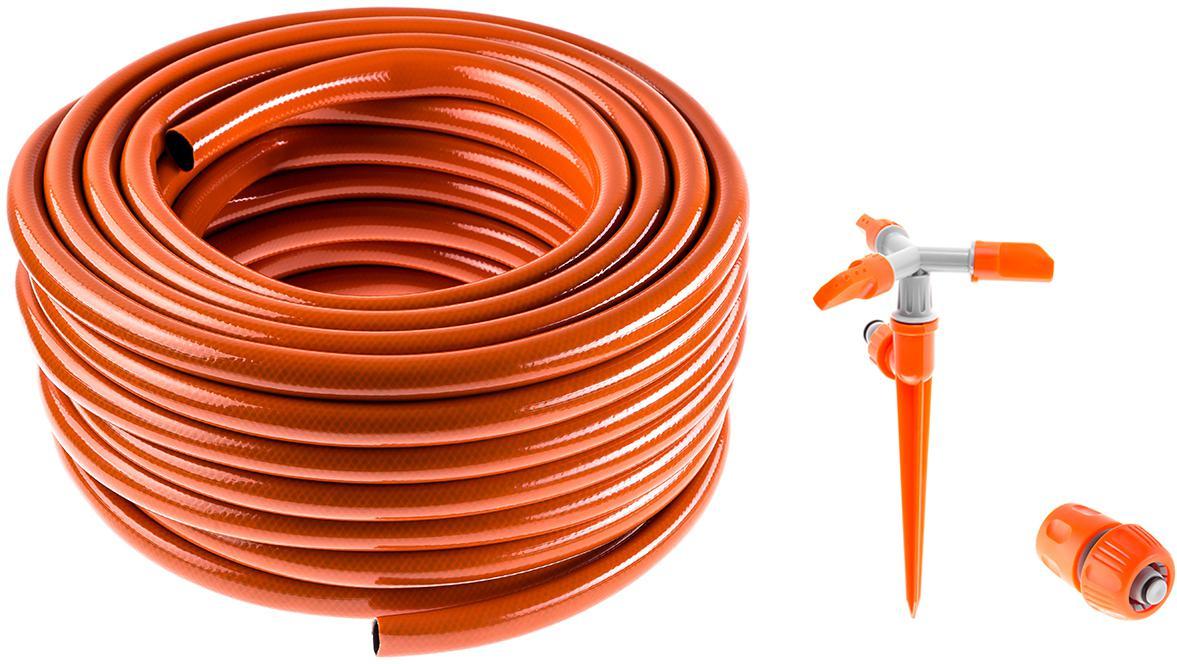 Набор Hammer Шланг 3/4'' 25м +Соединитель 236-016 +Дождеватель 236-020 шланг поливочный skrab 3 4 длина 25 м 20 bar цвет серый 28225