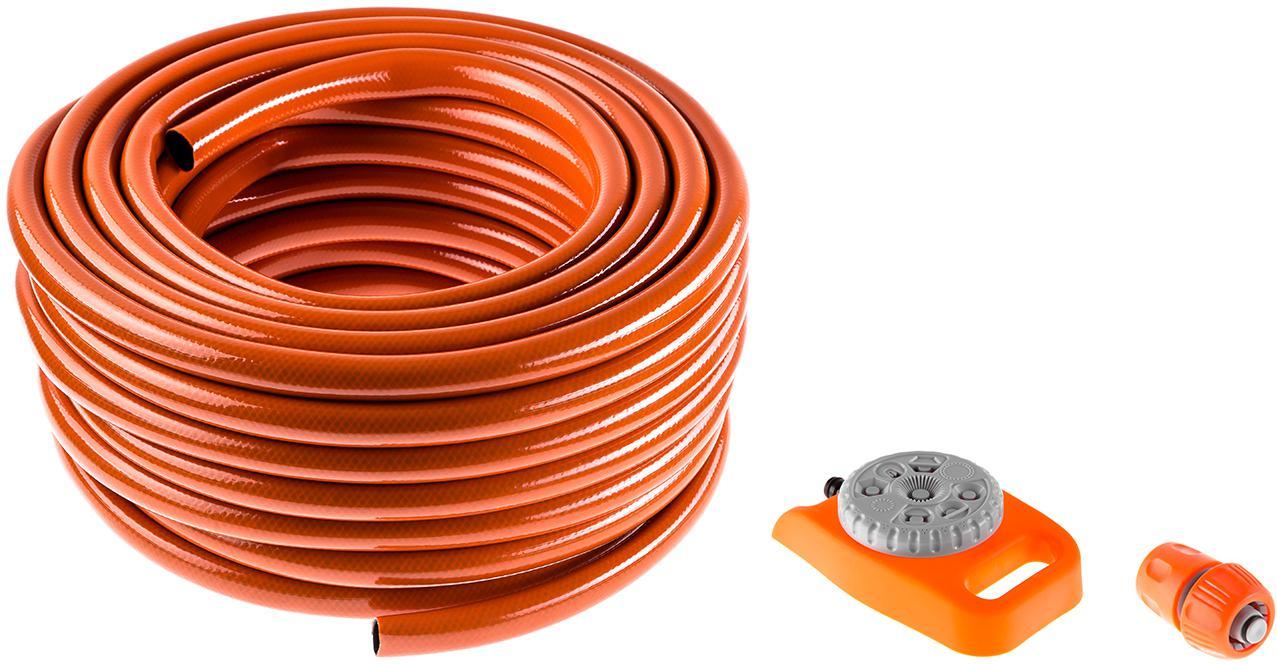 Набор Hammer Шланг 3/4'' 25м +Соединитель 236-016 +Дождеватель 236-021 шланг поливочный skrab 3 4 длина 25 м 20 bar цвет серый 28225