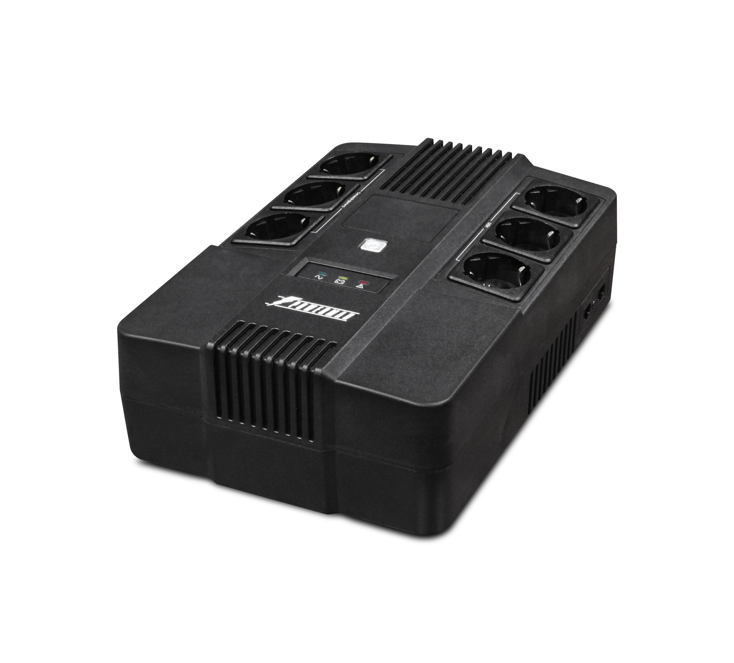 Источник бесперебойного питания Powerman Brick 600 ибп fsp aga 600 600va 360w 3 3 euro