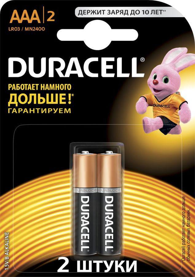 Батарейка Duracell Lr03-2bl basic Б0026812 aaa батарейка duracell basic cn lr03 2bl 2 шт
