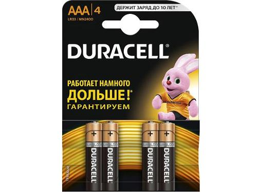 Батарейка DURACELL LR03-4BL BASIC Б0026813 Тип: AAA (LR03) (Кол-во в уп. 4шт.)