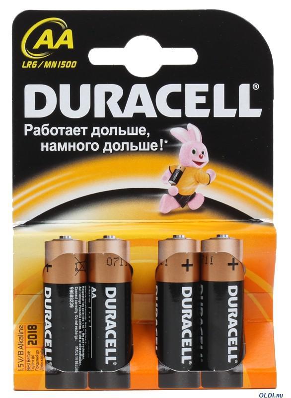 Батарейка Duracell Lr6-4bl basic Б0026815 duracell lr6 2bl turbo 2шт aa