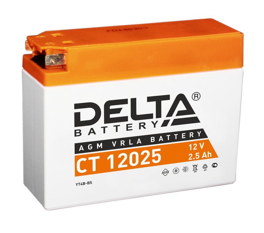 Аккумулятор Delta Ct 12025 аккумулятор для мототехники delta battery ct 1207
