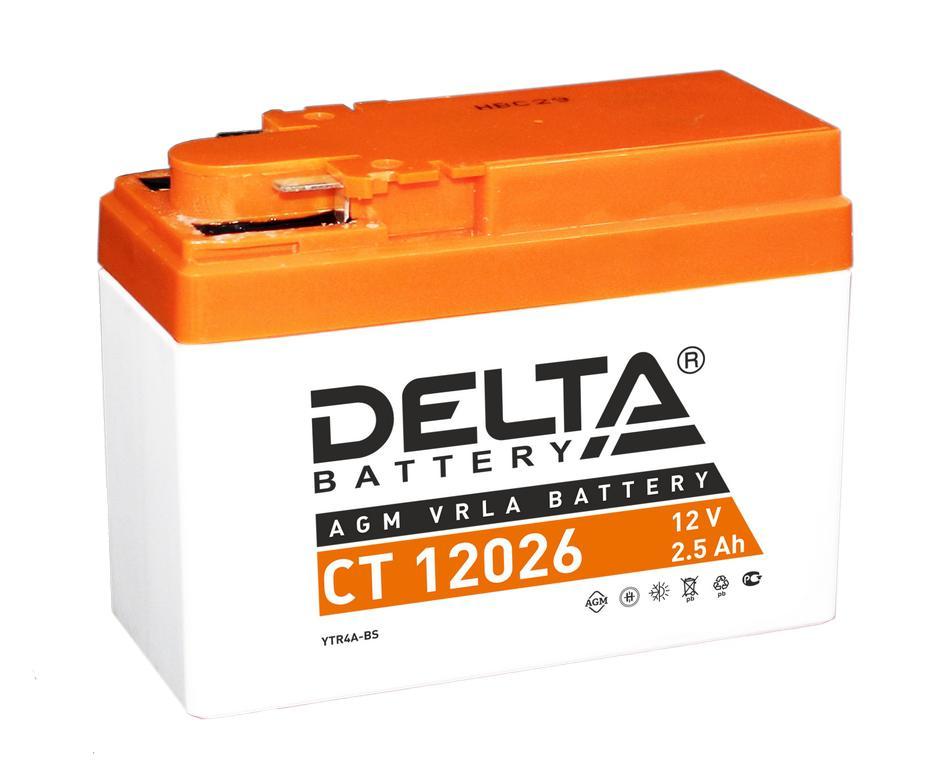 Аккумулятор Delta Ct 12026 аккумулятор для мототехники delta battery ct 1207