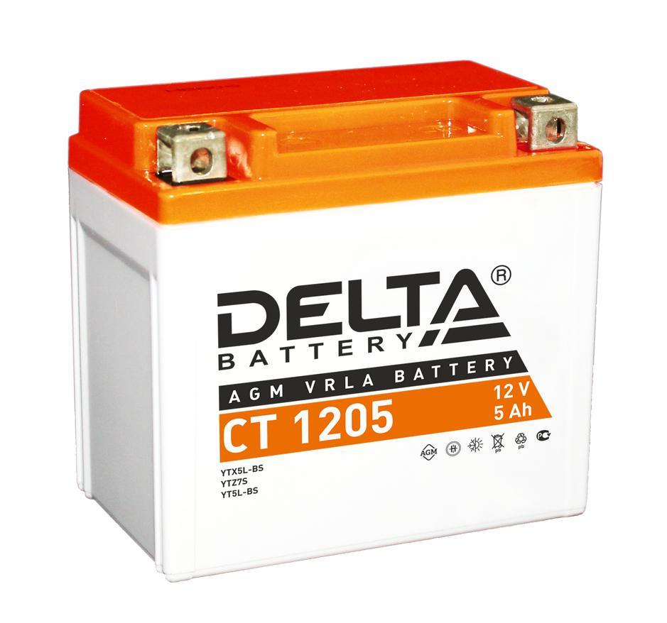 Аккумулятор Delta Ct 1205 аккумулятор для мототехники delta battery ct 1207