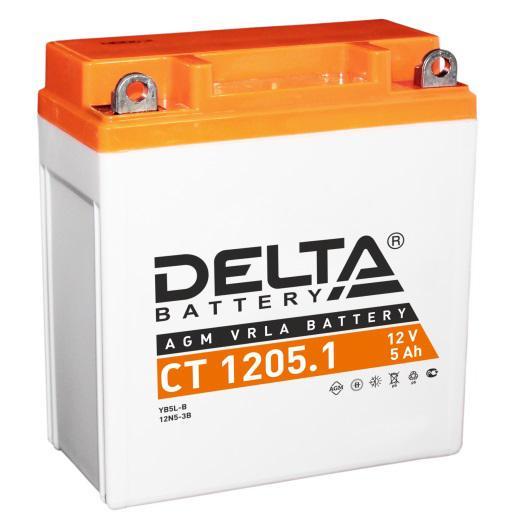 Аккумулятор Delta Ct 1205.1 delta ct1204 ytx4l bs 12v 4ah agm