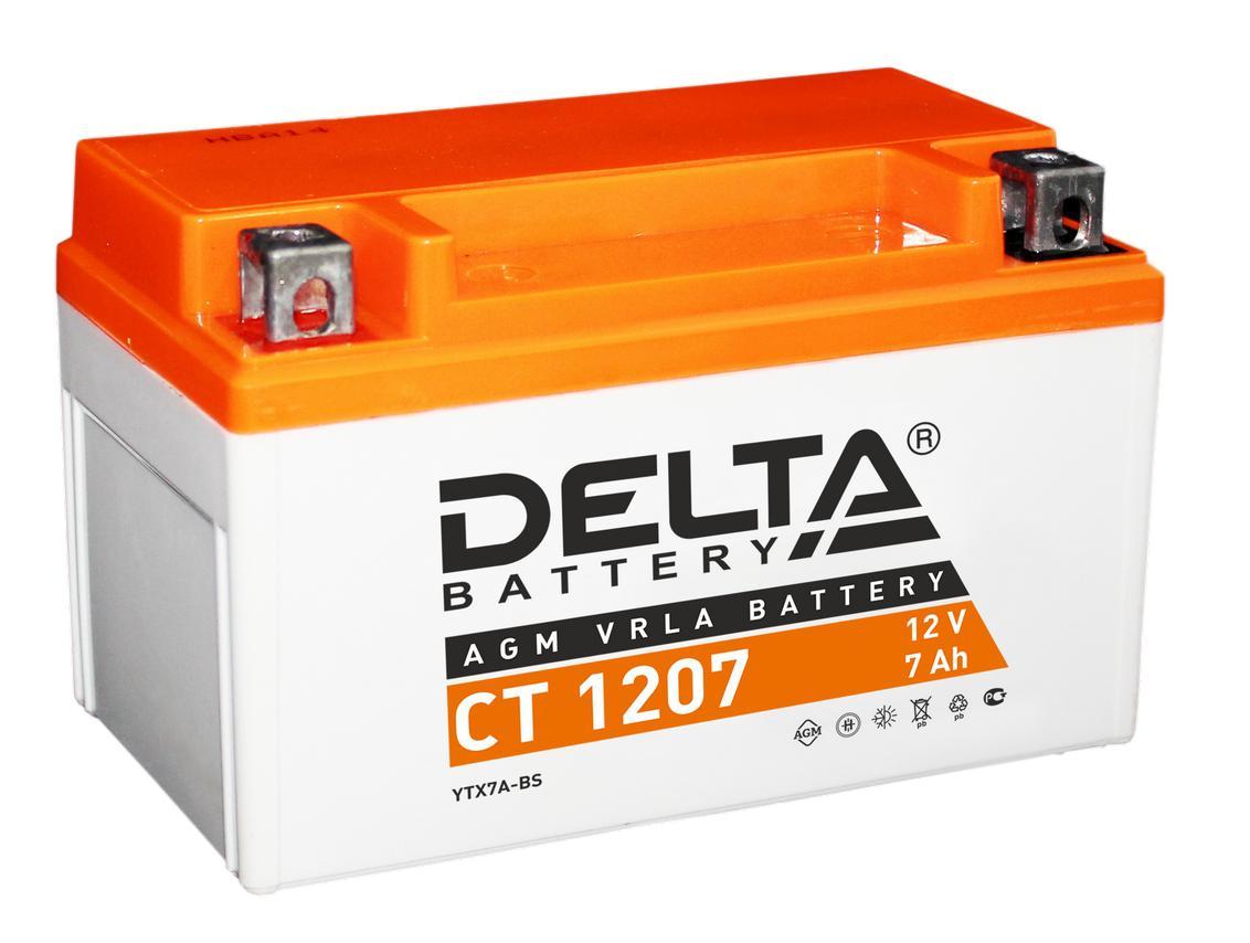 Аккумулятор Delta Ct 1207 delta ct1204 ytx4l bs 12v 4ah agm