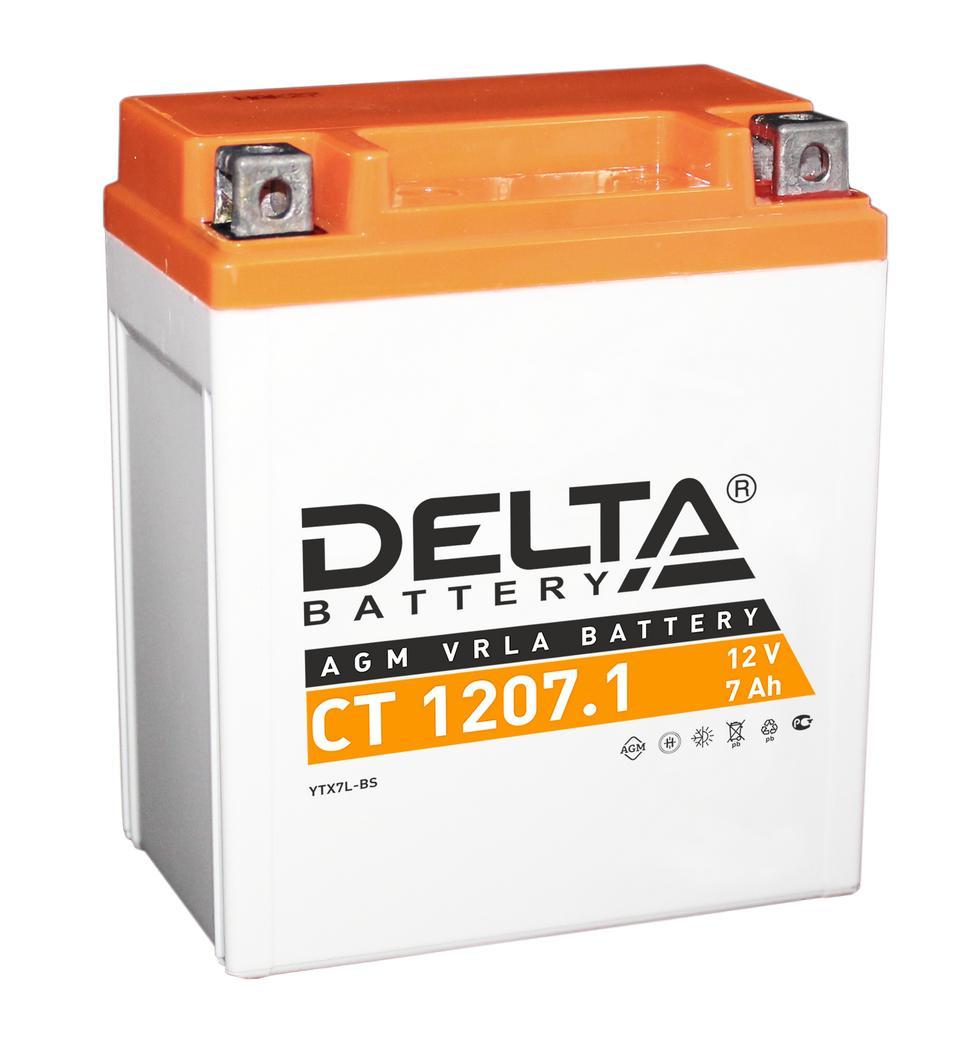 Аккумулятор Delta Ct 1207.1 delta ct1204 ytx4l bs 12v 4ah agm
