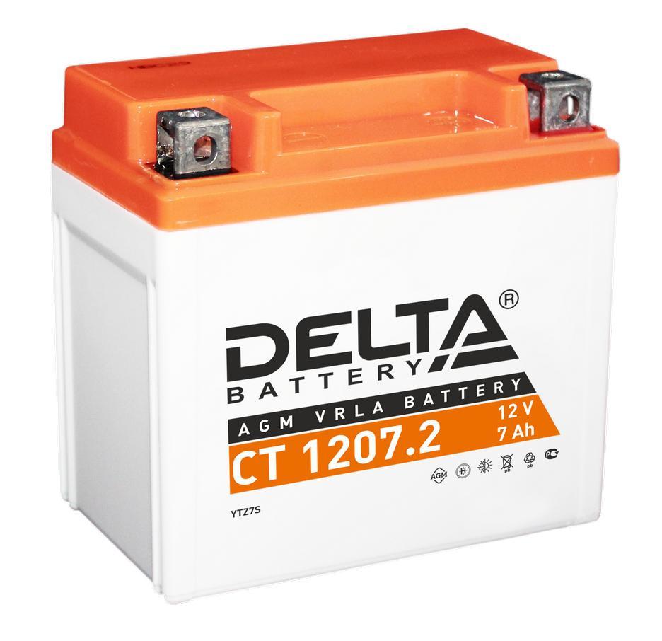 Аккумулятор Delta Ct 1207.2 аккумулятор для мототехники delta battery ct 1207
