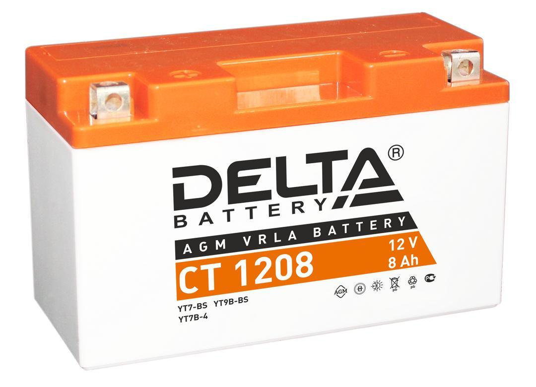 Аккумулятор Delta Ct 1208 аккумулятор для мототехники delta battery ct 1207