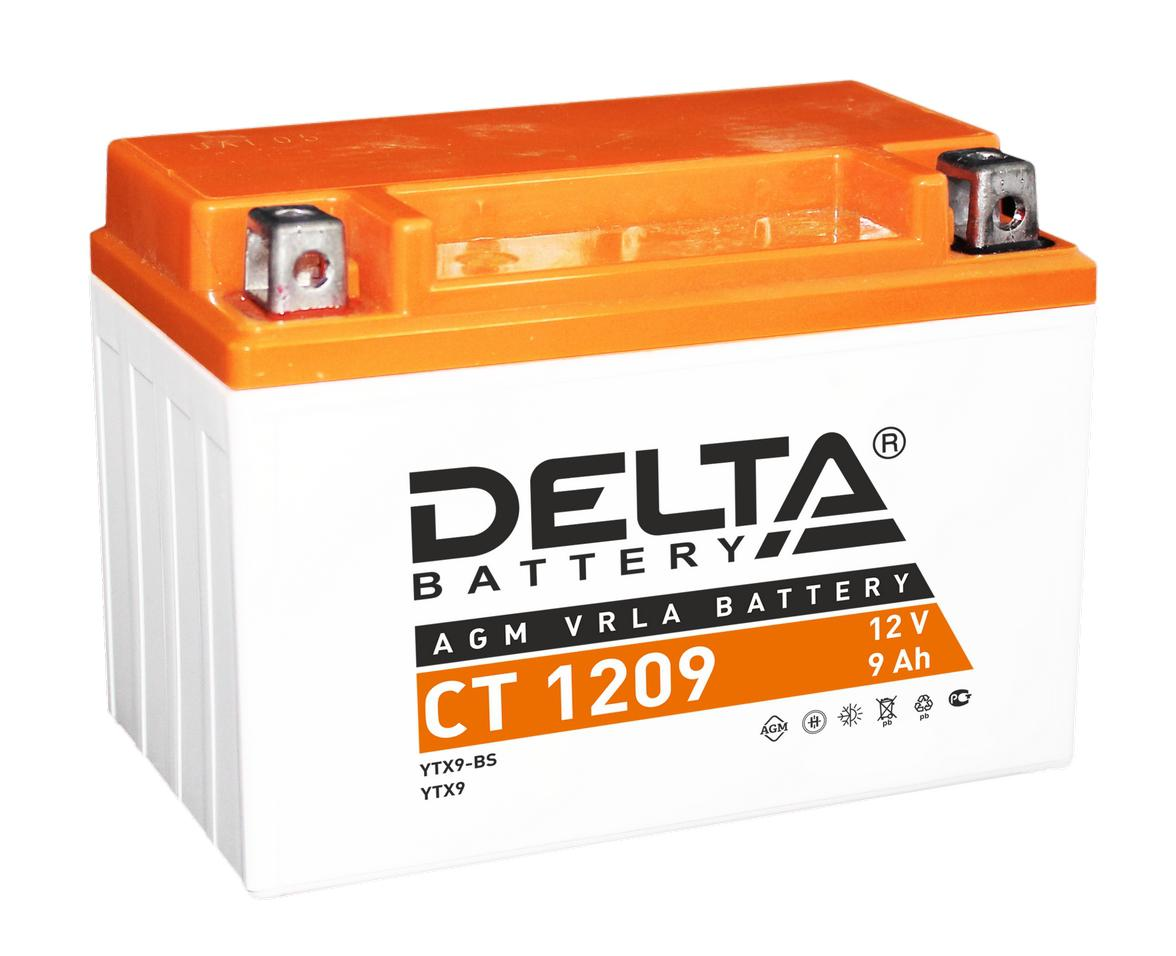 Аккумулятор Delta Ct 1209 аккумулятор для мототехники delta battery ct 1207