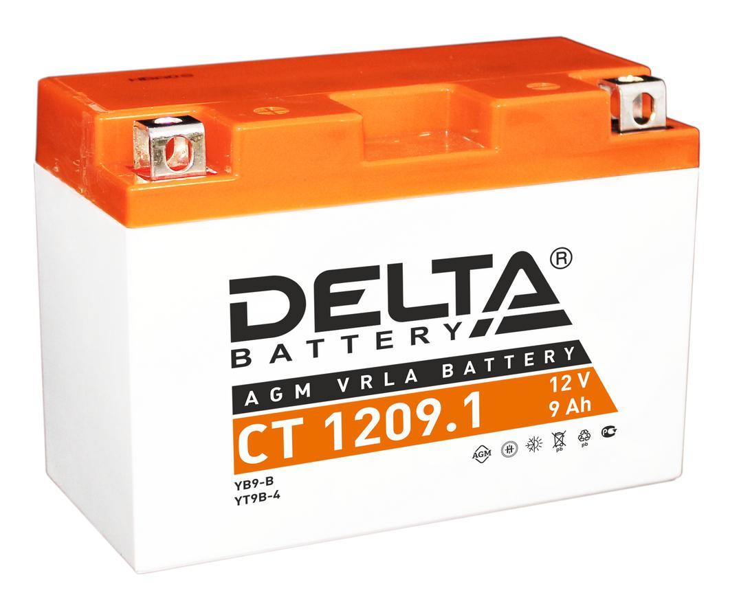 Аккумулятор Delta Ct 1209.1 аккумулятор для мототехники delta battery ct 1207