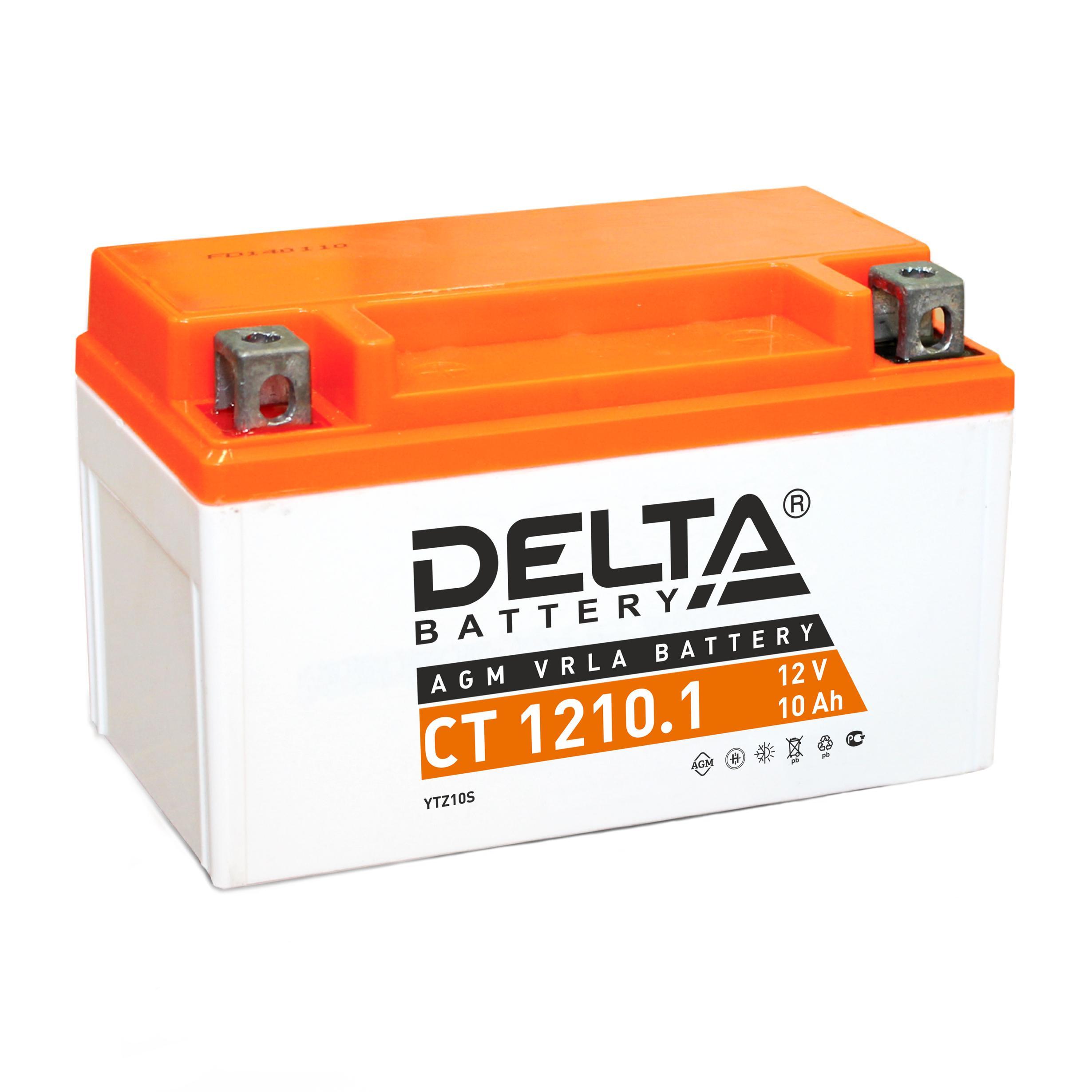 Аккумулятор Delta Ct 1210.1 аккумулятор для мототехники delta battery ct 1207