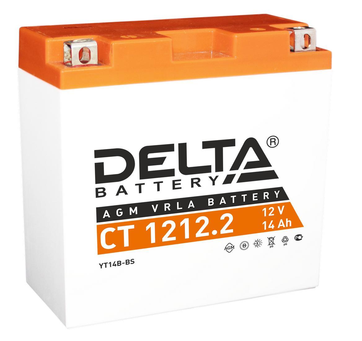 Аккумулятор Delta Ct 1212.2 delta ct1204 ytx4l bs 12v 4ah agm