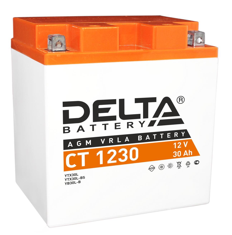 Аккумулятор Delta Ct 1230 аккумулятор для мототехники delta battery ct 1207