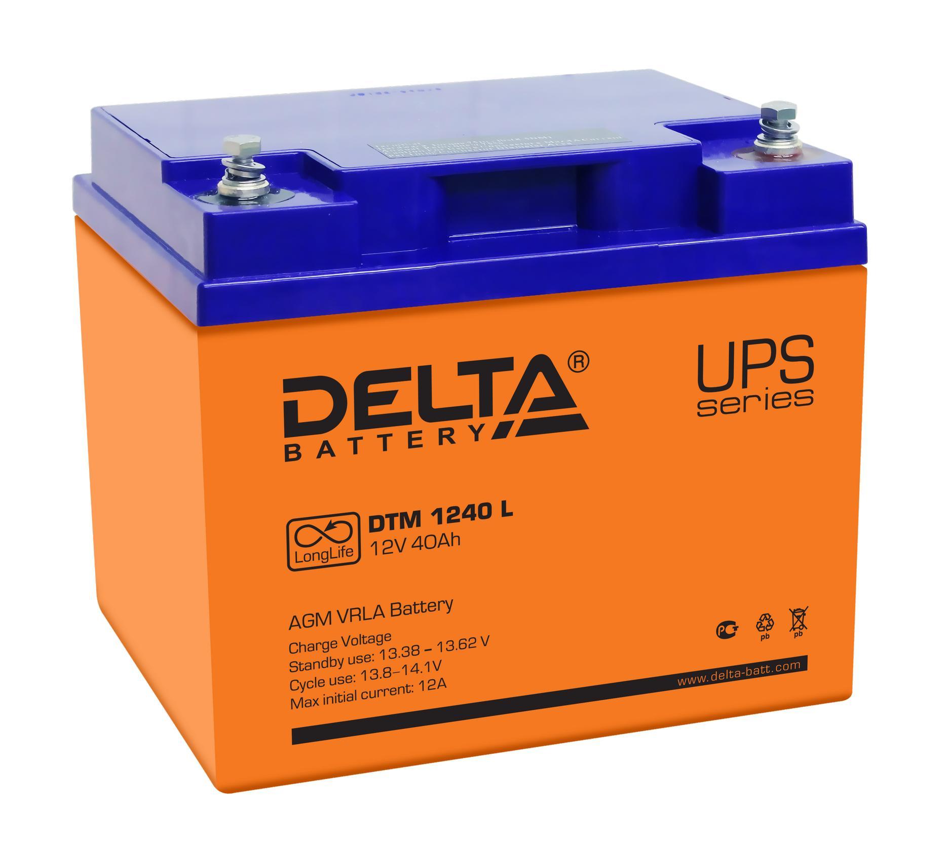 Аккумулятор для ИБП Delta Dtm 1240 l