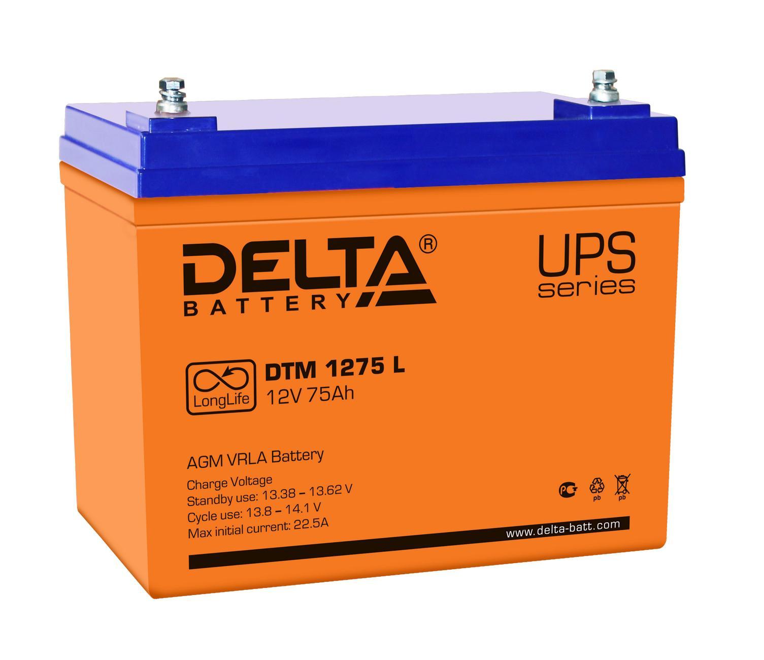 Аккумулятор для ИБП Delta Dtm 1275 l