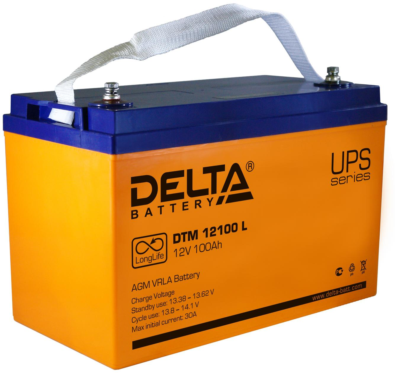 Аккумулятор для ИБП Delta Dtm 12100 l