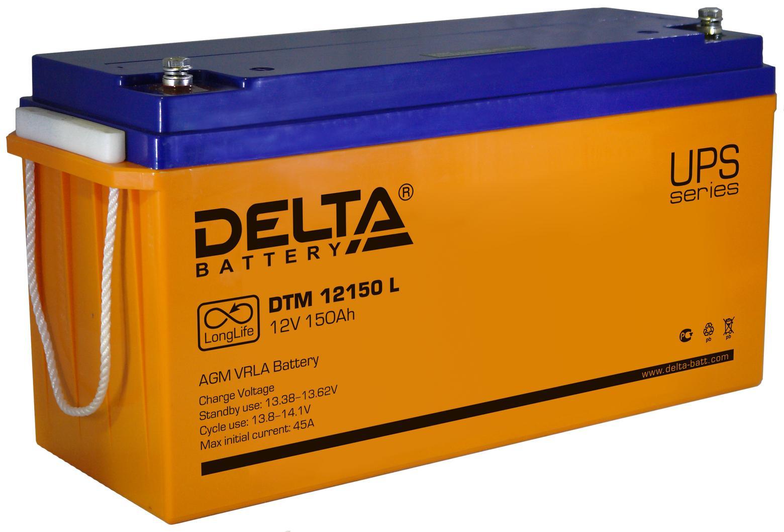 Аккумулятор для ИБП Delta Dtm 12150 l