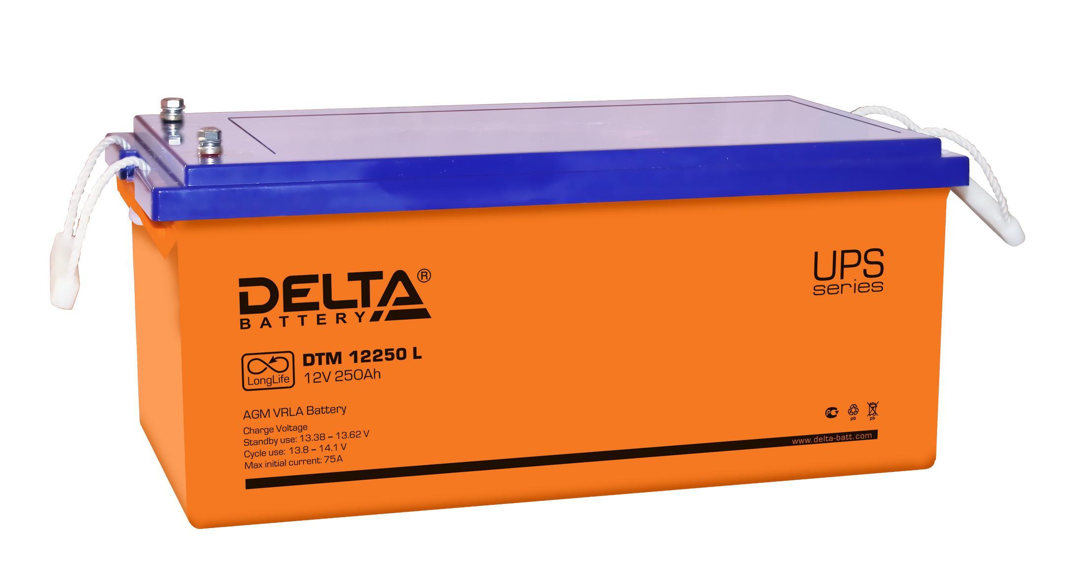 Аккумулятор для ИБП Delta Dtm 12250 l