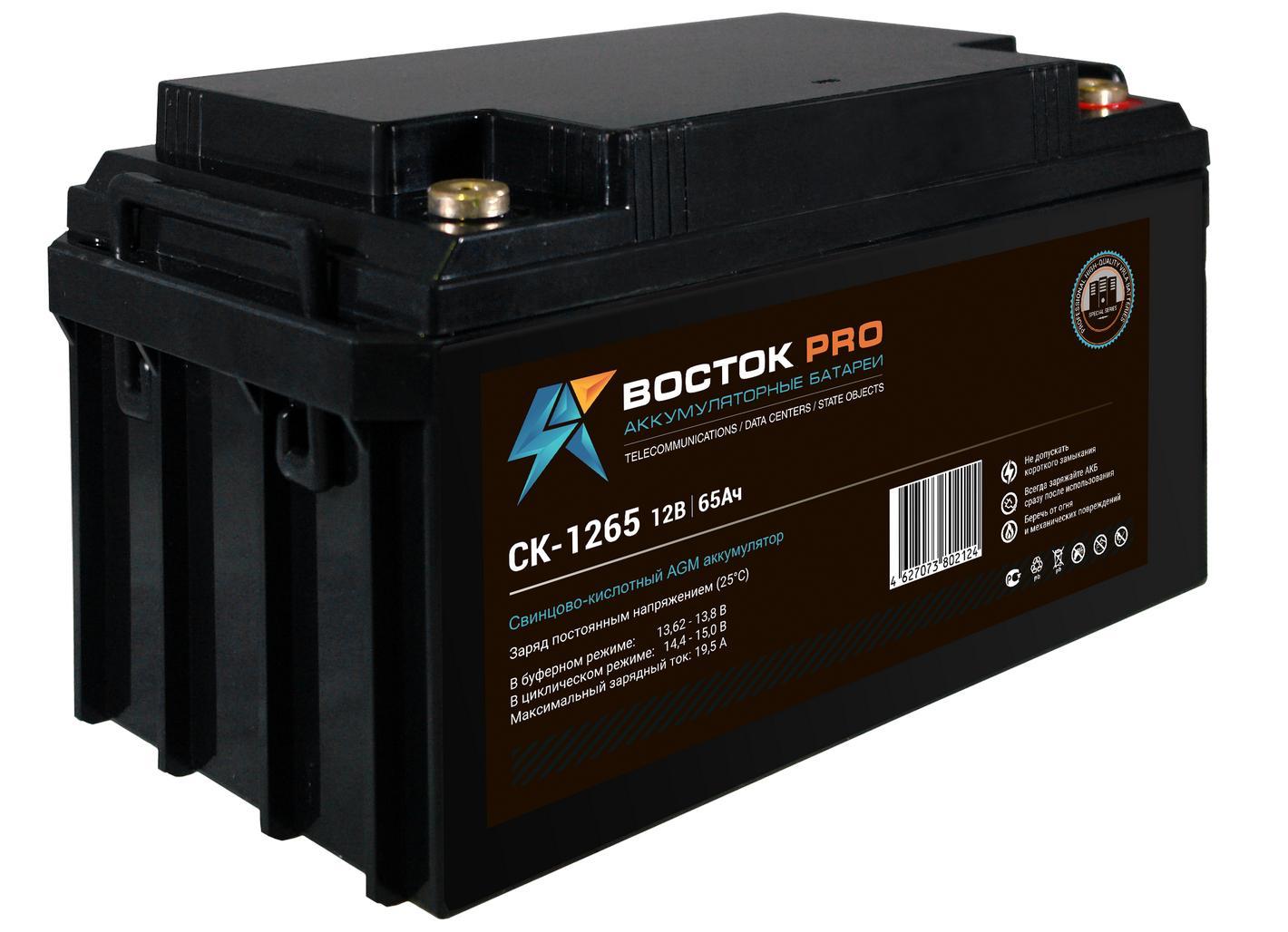 Аккумулятор для ИБП ВОСТОК СК 1265