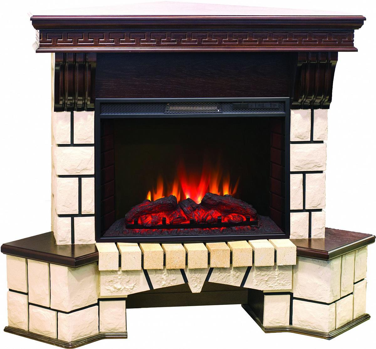 Электрокамин Real flame Stone corner new 25 ao/dn+sparta 25,5