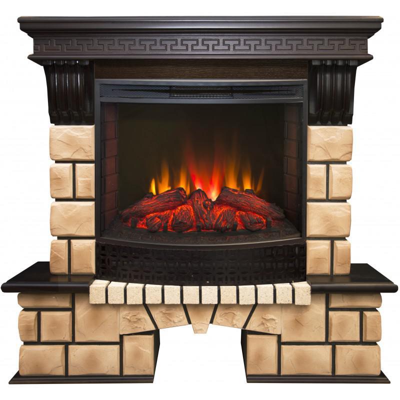 Электрокамин Real flame Stone brick 25/25,5 ao+evrika 25,5
