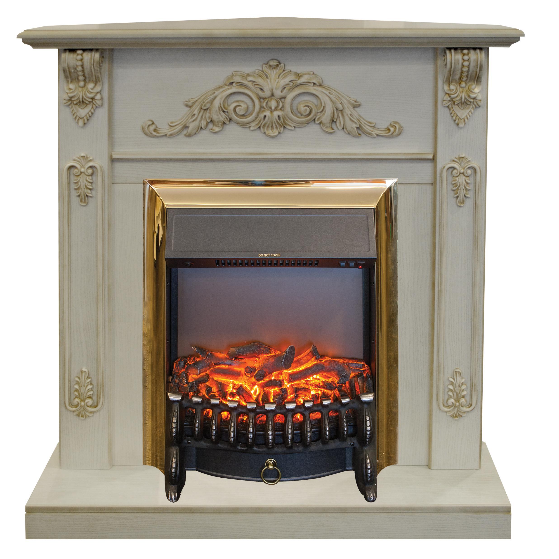 Электрокамин Real flame Anita corner wtg+fobos lux brass