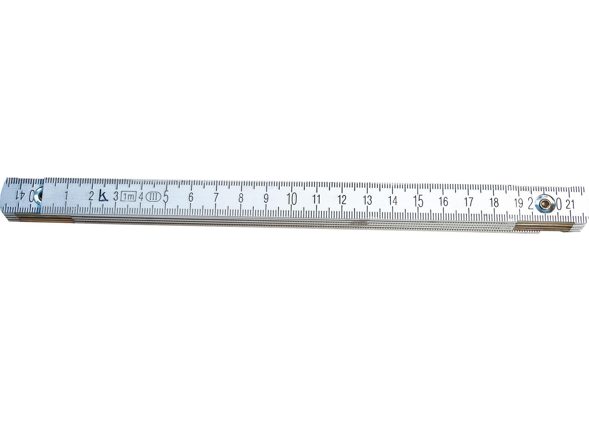 Метр складной КАЛИБРОН длина 1 м (алюминий)