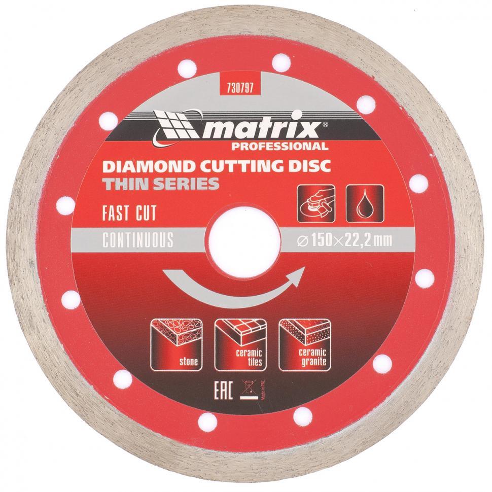Круг алмазный Matrix Ф150х22мм по керамике (730797) круг алмазный matrix 730797