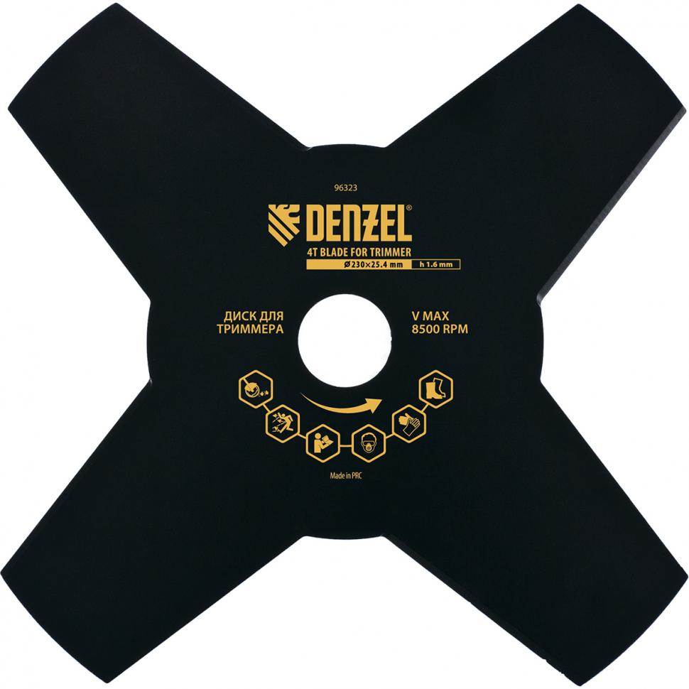 Диск Denzel 96323 нож для триммера dde grass cut 8 230 25 4 20mm 241 413