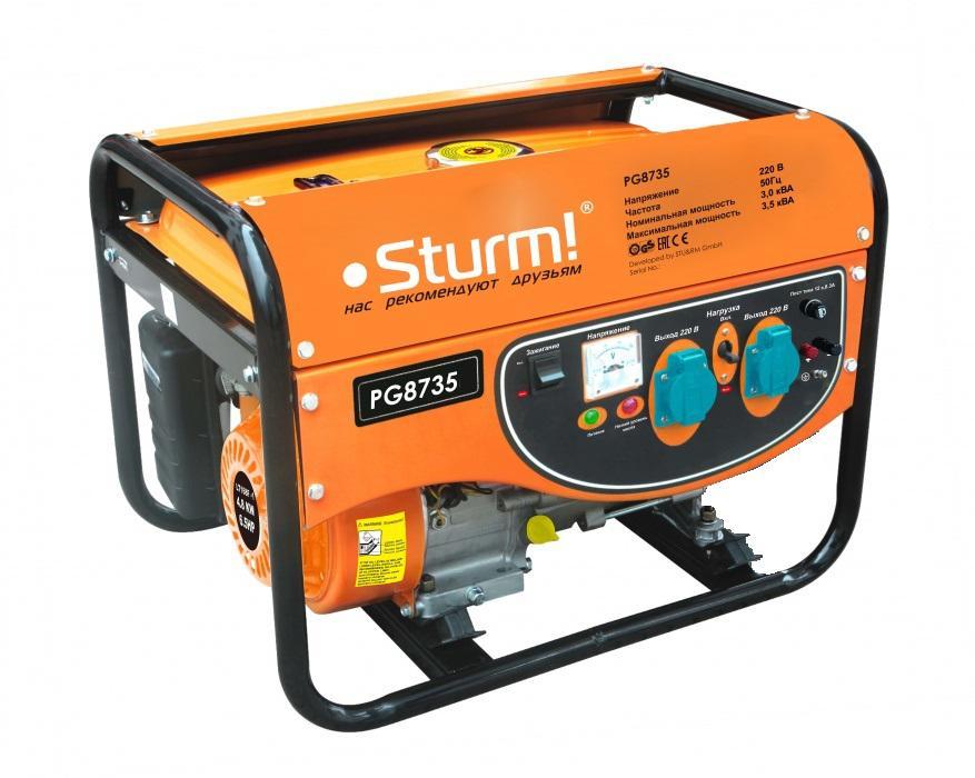 Бензиновый генератор Sturm! Pg8735