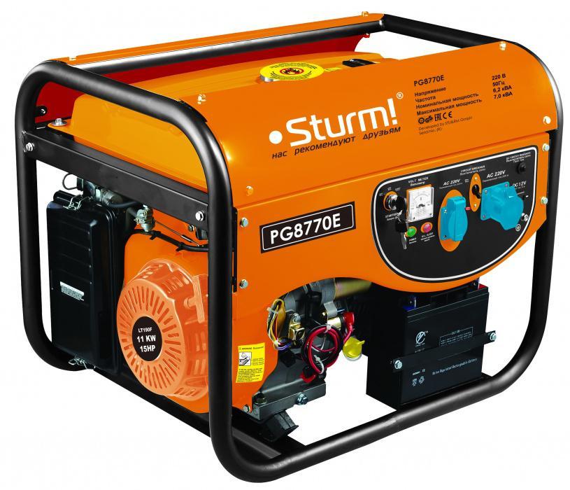 Бензиновый генератор Sturm! Pg8770e