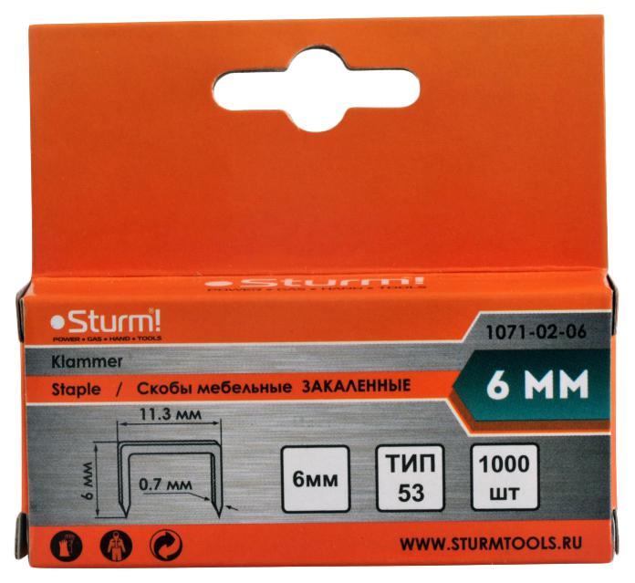 Скобы для степлера Sturm! 1071-02-06